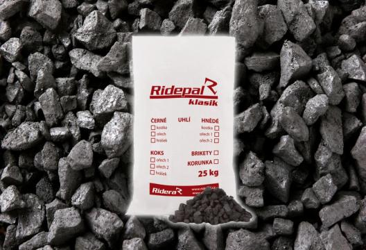 Balené černé uhlí pro automatické kotle, hrášek PMIX, 25 kg