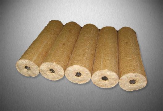 Dřevěné válcové brikety TOP KLASIK s dírou, 10 kg