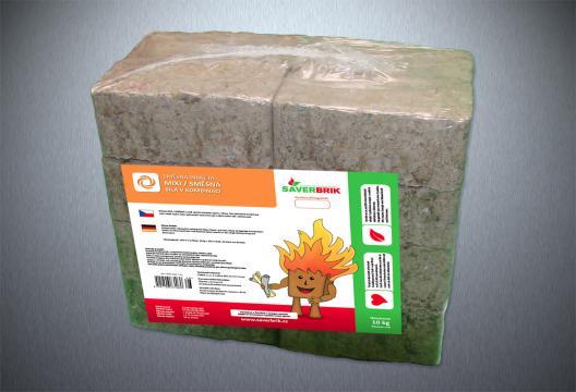 Směsné brikety MIXI / SMĚSNÉ, papír/dřevo, 10 kg