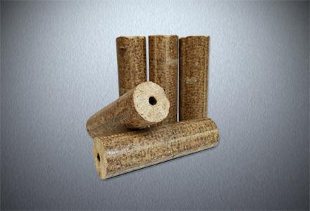 Dřevěné válcové brikety HARD PREMIUM s dírou, dub/buk, 10 kg