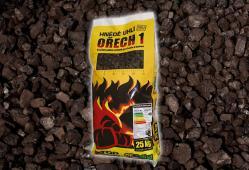 Bílinské uhlí - Ořech 1, pytlované, 25 kg