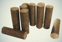 Dřevěné válcové brikety MIX TOP, dub/buk, 7,5 kg