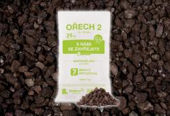 Pytlované hnědé mostecké uhlí, ořech 2, 25 kg