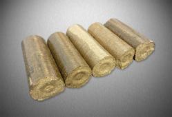 Dřevěné brikety válcové HARD dub/buk, balené, 10 kg